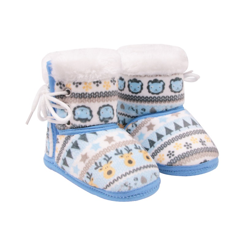 Lights & Lighting Sensible Baby Boots Baby Girl Winter Boots Deer Lion Cartoon Printing In The Tube Side Tie Cotton Shoes Baby Boy Boots
