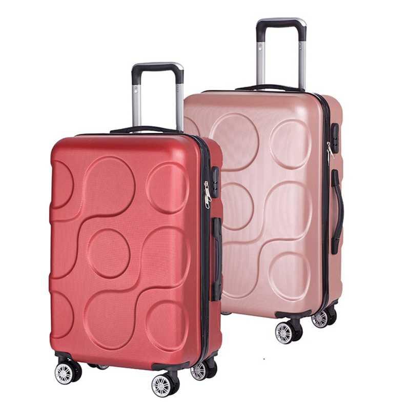 100% PC чемодан Красочные 24 дюймов сумки на колёсиках легкие женские дорожные сумки Спиннер багажника багаж для мужчин