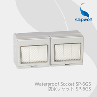 Saipwell Electrical Equipment & Supplies Six key dual control switch and outlet with CE and outlet IP55 level (SP 6GS)