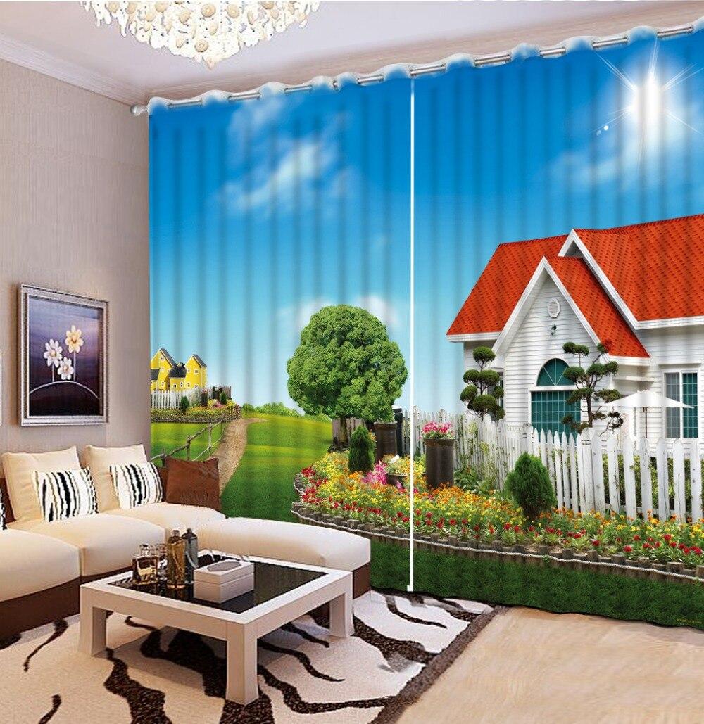 Fotografie Přizpůsobit velikost záclony obývací pokoj okno kreslený moderní domácí výzdoba záclony styly pro ložnice