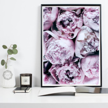 Cuadros Decoracion Salon Abstract Purple Peony Posters and Prints Wall Art Canvas Painting Flowers Pictures For Living Room