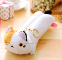 2Designs-Super Kawaii Little White Cat 23 CM Plush Fluffy Coin Case BAG Bolsa; SACO de Moeda Gato Bolsa Caso carteira(China)