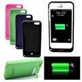 Luxo 4200 mah Recarregável Bateria Externa Backup Carregador Da Tampa Do Caso power pack banco para apple iphone 5 5s 9 cores disponível