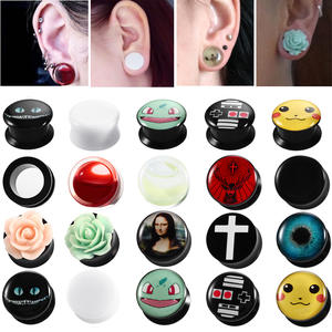 Xpircn 2Pcs Ear Plug Flesh Tunnel Gauges Piercing Jewelry