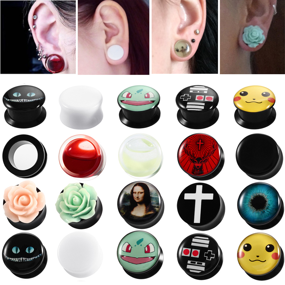 10 Pc CLEAR Ten Set Ear Plugs Gauge Tunnels Tapers Replacement Rubber O-Rings