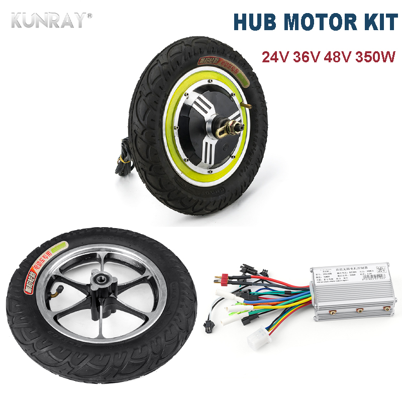 <font><b>350W</b></font> 24V 36V 48V <font><b>DC</b></font> <font><b>Motor</b></font> <font><b>Brushless</b></font> Front Rear Wheel Hub <font><b>Motor</b></font> 12'' With Tire Electric <font><b>Motor</b></font> Controller Electric Scooter Parts image