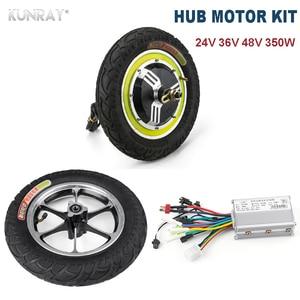 350 w 24 v 36 v 48 v dc motor sem escova dianteiro do cubo da roda traseira 12 motor motor com peças elétricas do