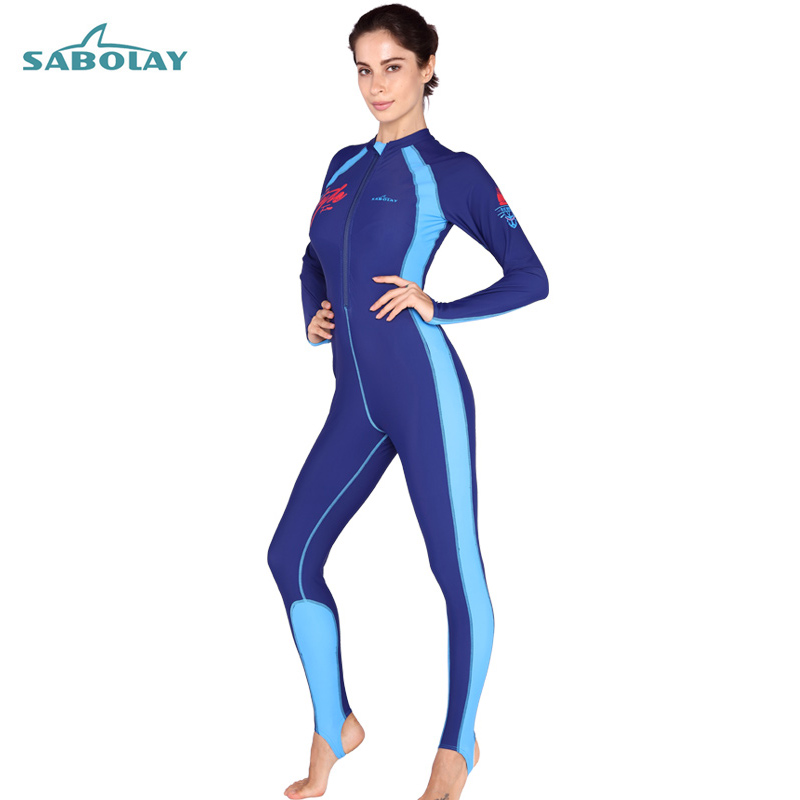 ФОТО Sabolay 2017 New One Piece Swimsuit Women Surf Clothing Plus Size Swimwear Wetsuit Rashguard Surf VU50+