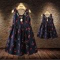 Vestidos mãe filha de mãe e filha mãe filha vestido vestido de princesa roupas meninas cereja