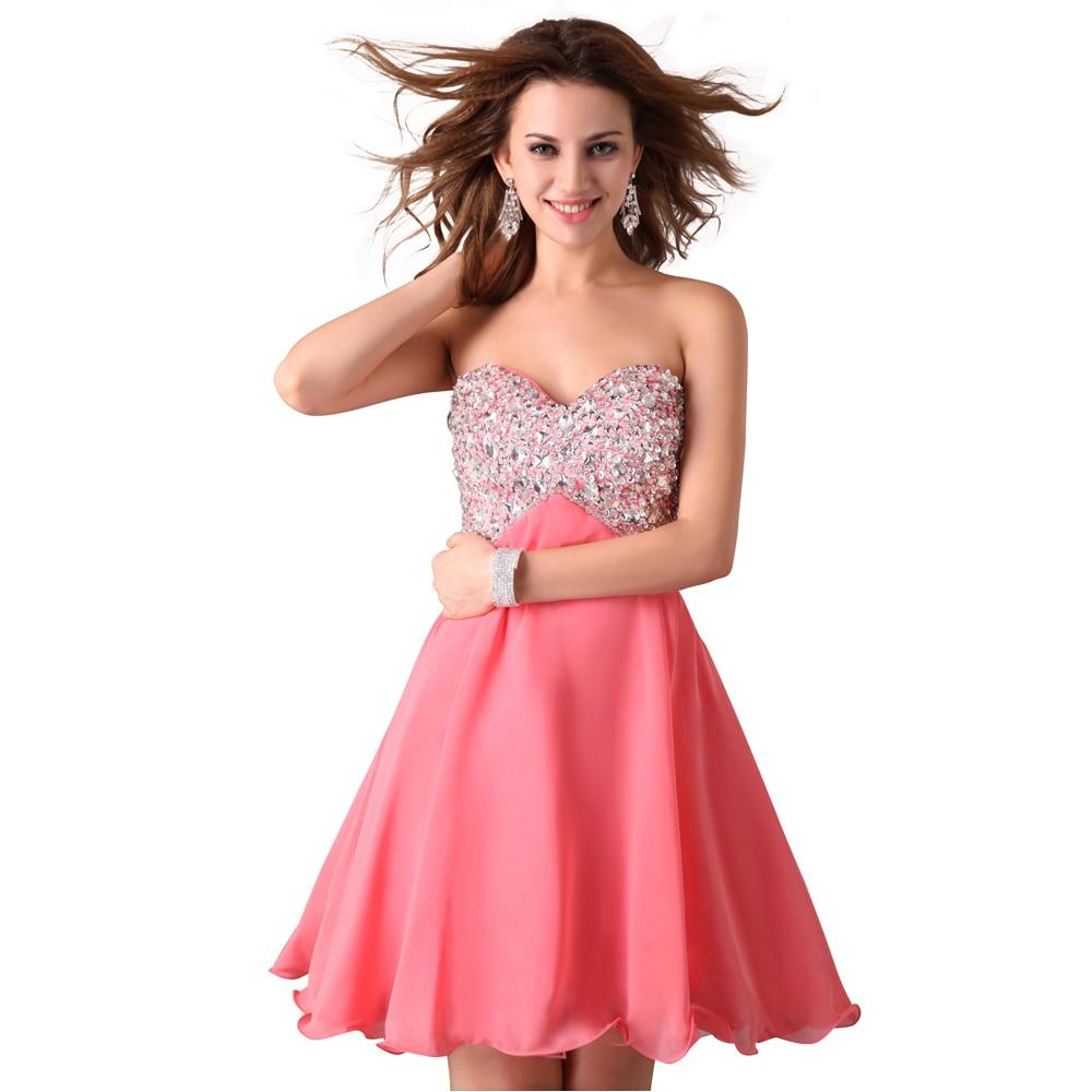 Famoso Vestido Corto De Color Rosa Cóctel Componente - Colección de ...
