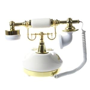 Image 4 - Старинный дизайнерский телефон ностальгия телескоп винтажный телефон из керамической MS 9100