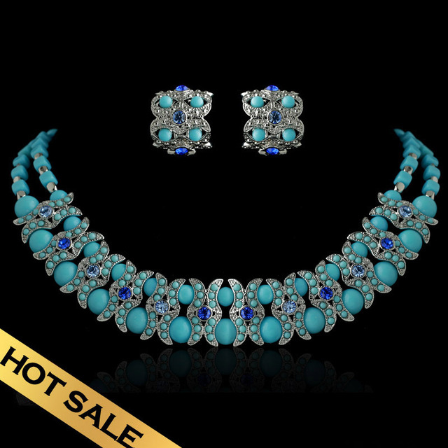 Special Necklaces & Stud Earrings Jewelry Sets Handmade Classic Vintage Design Jewelry Free Shipping TZ13A029201