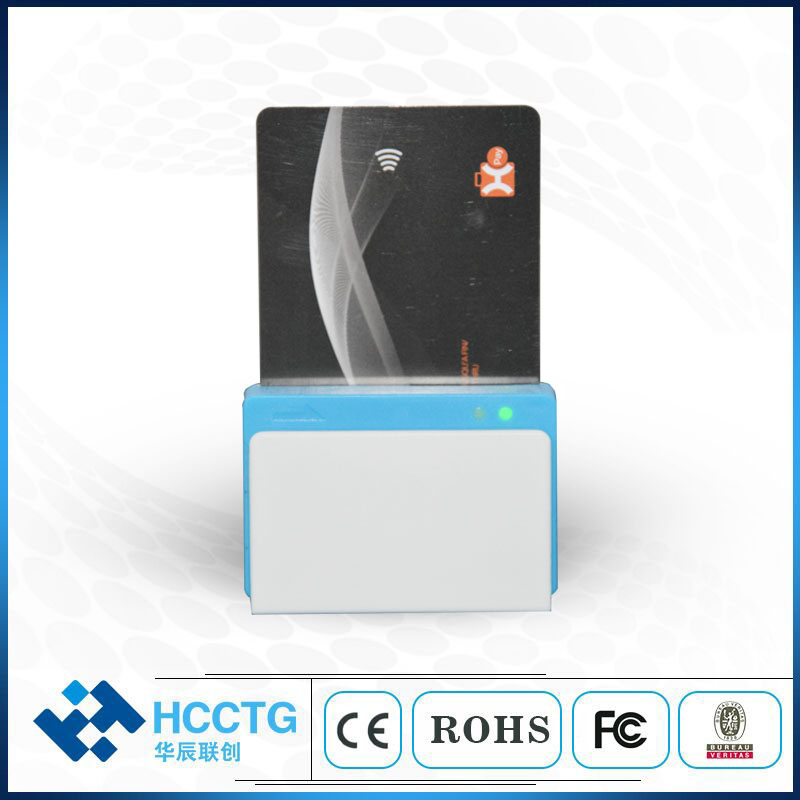 All card in one machine Smart Card Bluetooth EMV Smart Card Reader for ISO 7816 Chip RFID NFC Magnetic Track 12 3 Card Reader
