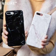 MOLIKE Soft TPU Case For iPhone 6 6S 7 8 SE X Plus Cover Marble Patterned Silicone For iPhone 7 6 S 8 5S 5 X Case Phone Coque