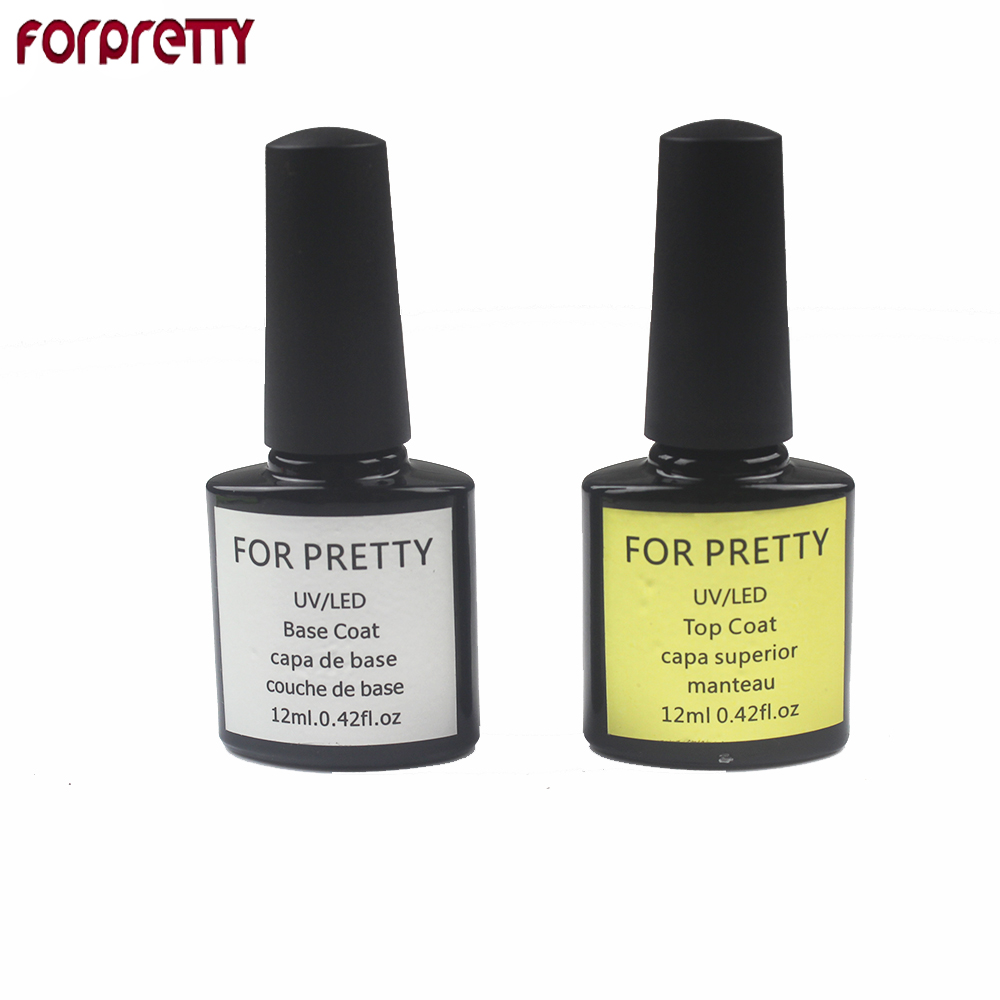 Gel Nagellak FORPRETTY Primer Esmalte Top Coat UV-vernis Art Unhas De lak Base 12ml Vernis Semi-permanente ongle Manteau