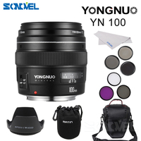 Yongnuo YN100mm F2 Medium Telephoto Prime Lens For Canon EOS Rebel Camera AF MF