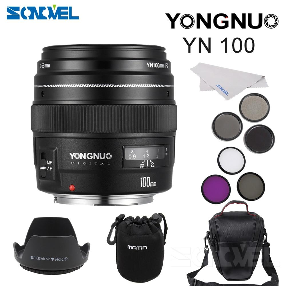 Yongnuo YN100mm F2 AF MF Medium Telephoto Prime Lens Fixed Focal 58mm UV CPL FLD ND2
