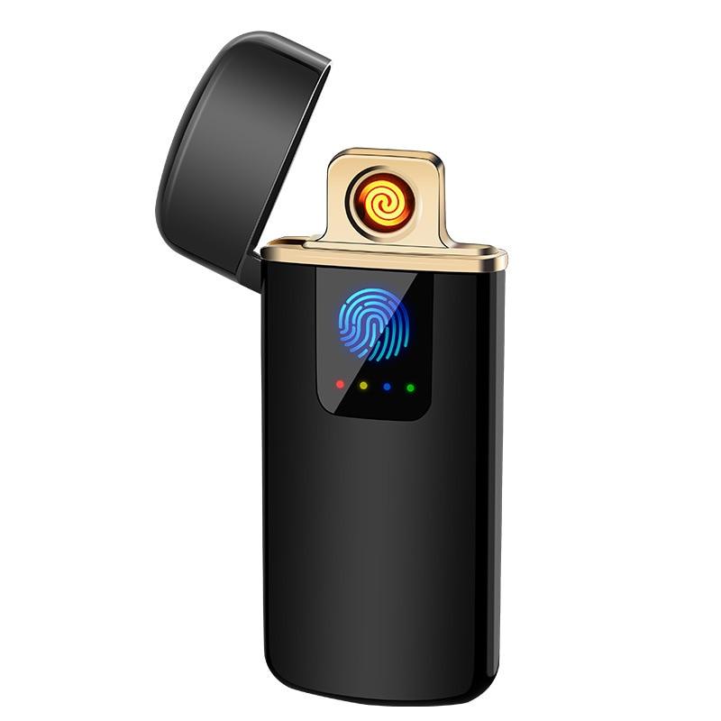Freies Laser Logo USB Elektronische Zigarette Leichter Plasma ARC Metall Leichter Winddicht Flammenlose Wiederaufladbare Elektrische Jet Leichter