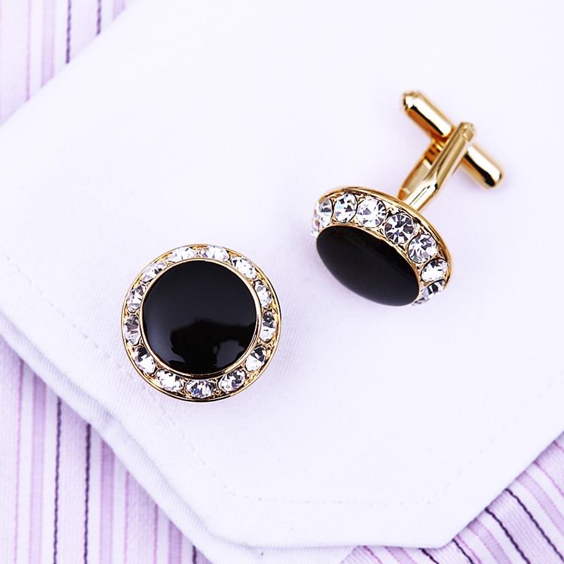 KFLK Perhiasan kemeja perancis manset untuk pria Merek Kristal manset - Perhiasan fashion - Foto 5