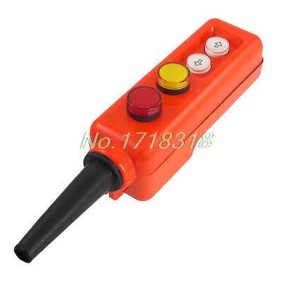 цена на Red Yellow LED Lamp Up-down Control Station Hoist Crane Pushbutton Switch 12V