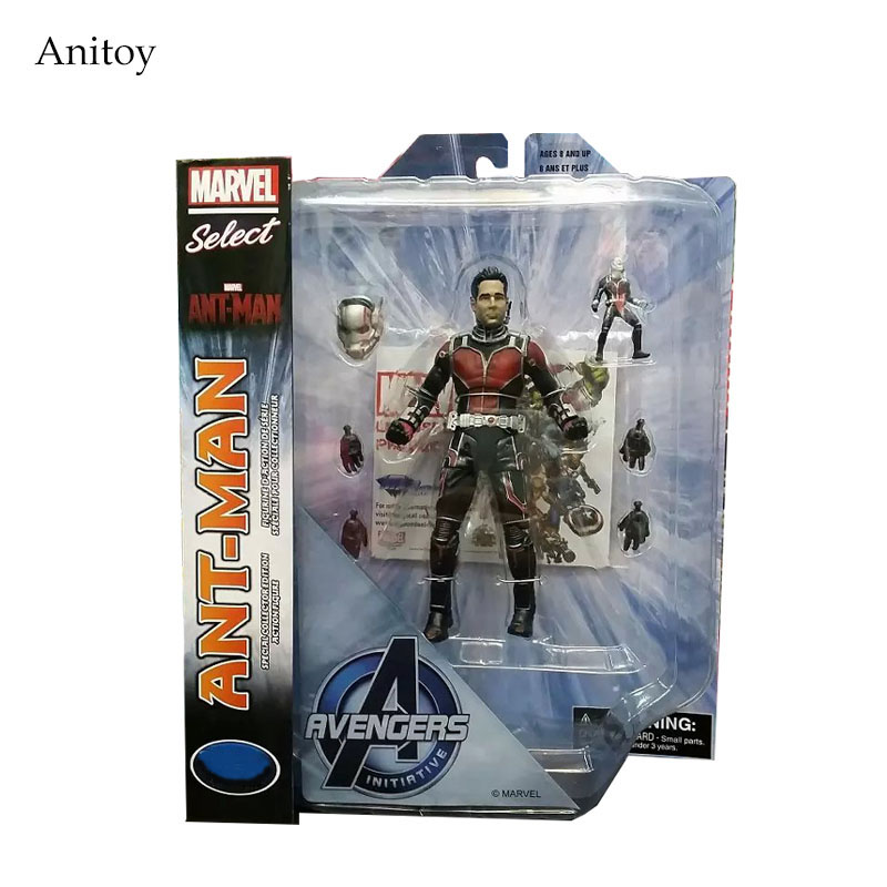 Marvel Select Ant-Man PVC Action Figure Toys Collectible Model 718cm  KT1345 marvel iron man mark 43 pvc action figure collectible model toy 7 18cm kt027