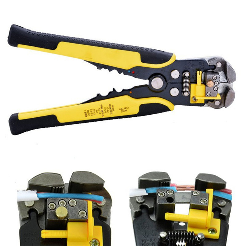 Automatic Cable Wire Stripper Self Adjusting Crimper Terminal Tool AWG24-10(0.2-6.0MM2) self adjusting automatic cable stripper pliers crimper terminal tool