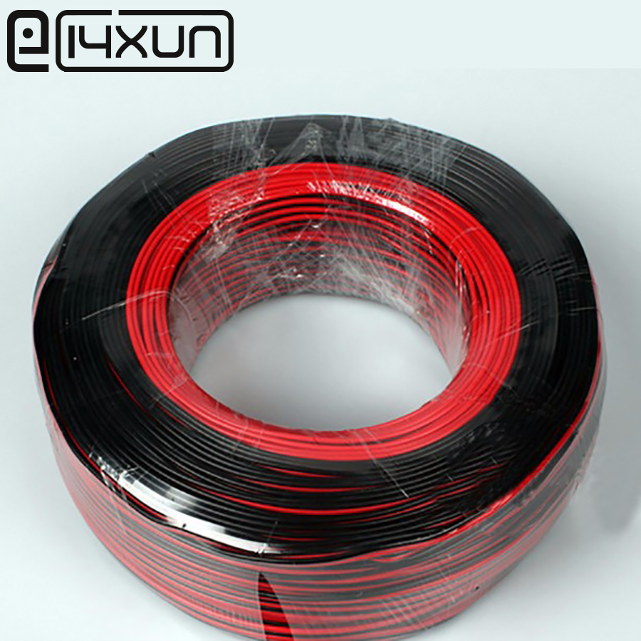1m 2m 3m 4m 5m 10m 20m/pcs 22AWG, 2 pin Red Black cable, PVC insulated <font><b>wire</b></font>, 22 <font><b>awg</b></font> <font><b>wire</b></font> Electric cable, LED cable, DIY Connect image