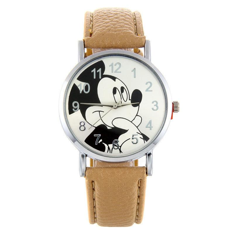 Cartoon Cute Brand Leather Quartz Watch Children Kids Girls Boys Casual Fashion Bracelet Wrist Watch Clock Relogio WristWatch