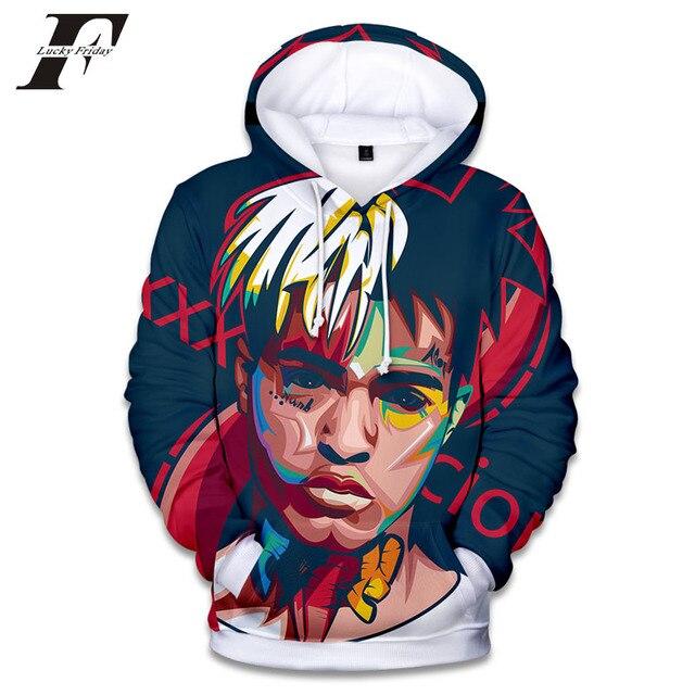 a442774098dd 2018 Rapper XXX Tentacion Cotton Hoodies sweatshirts 3D Hip Hop Singer  xxxtentacion Uniform mens hoodies Hip Hop sweatshirt
