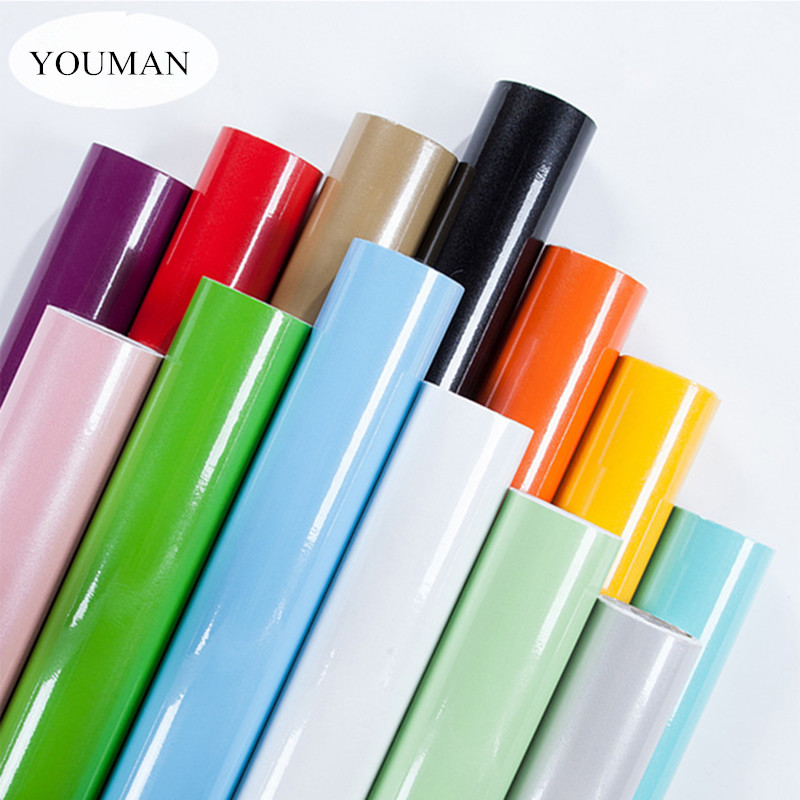 PVC Self-adhesive Wallpaper Roll Pearlescent Paint Modern Kitchen Cupboard Cabinet Furniture Renovation Wall Stickers Home Decor beibehang thick living room bedroom wall cabinet wall cabinet sub cabinet furniture renovation stickers self adhesive wallpaper