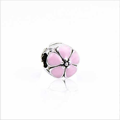 Colorful Enamel Eggplant Rainbow Flower Tree Mickey Mouse Beads Fit Pandora Charms Bracelets For Women DIY Jewelry Lover Gift