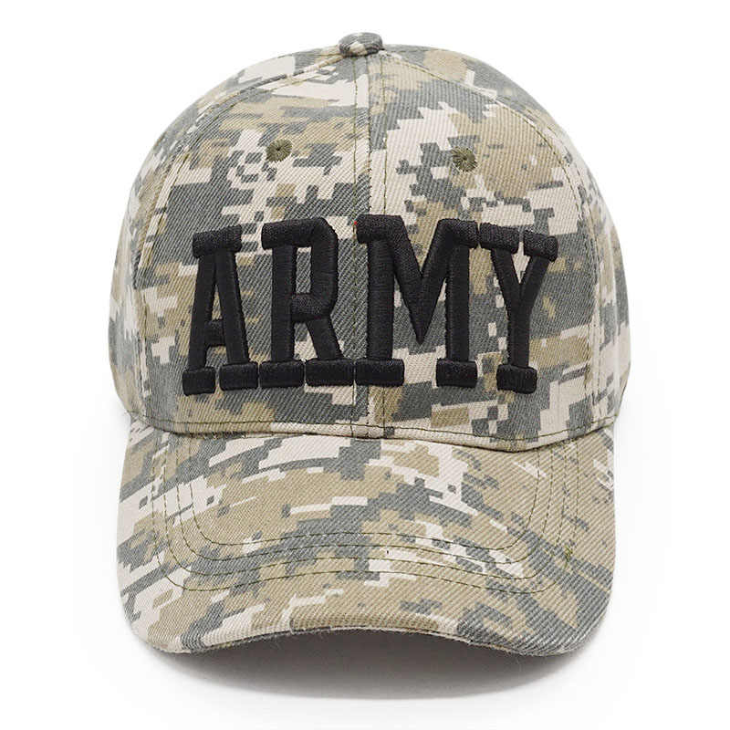2ad4b7476d8e0 ... US Army Camo Baseball Cap USAF POLICE Men Tactical Snapback Hat Dad  Bone Outdoor USA Flag ...