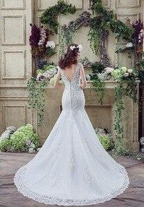 Image 2 - 100% реальные изображения Свадебное Платье женское свадебное платье 2020 женское платье