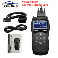 Free Ship New VGATE VS890 OBD2 Code Reader Universal OBD2 Scanner Multi language Vgate VS890 Car Diagnostic Tool
