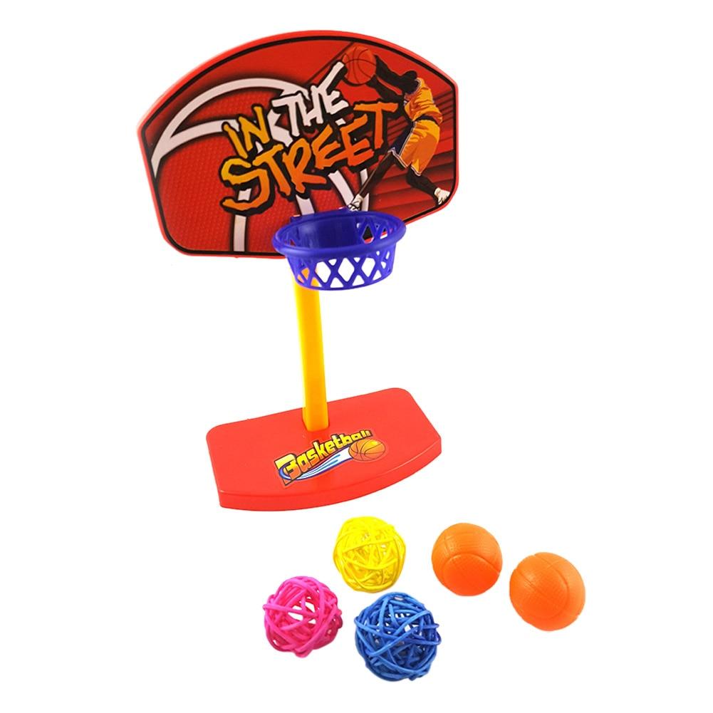 Pet Birds Chew Toy Parakeet Bell Balls Parrot Toys Birdie Basketball Hoop Props Pet Parrot Brinquedos Pet Products Supplies