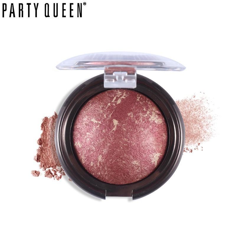 Party Queen Baked Shimmer Bronzer Blush Palette Mineral Blush Powder Makeup Multipurpose Blush Cheek Color Bronzer