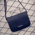 2016 новая мода крокодил картина небольшая площадь пакет Цепи сумки PU переносной сумка zs403