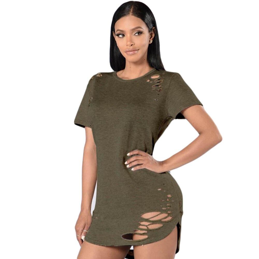Buy Cheap Summer T Shirt Dress 2017 Women Sexy Cut Out Bodycon Bandage Party Dresses Casual T-Shirt Mini Dress Vestidos De Festa