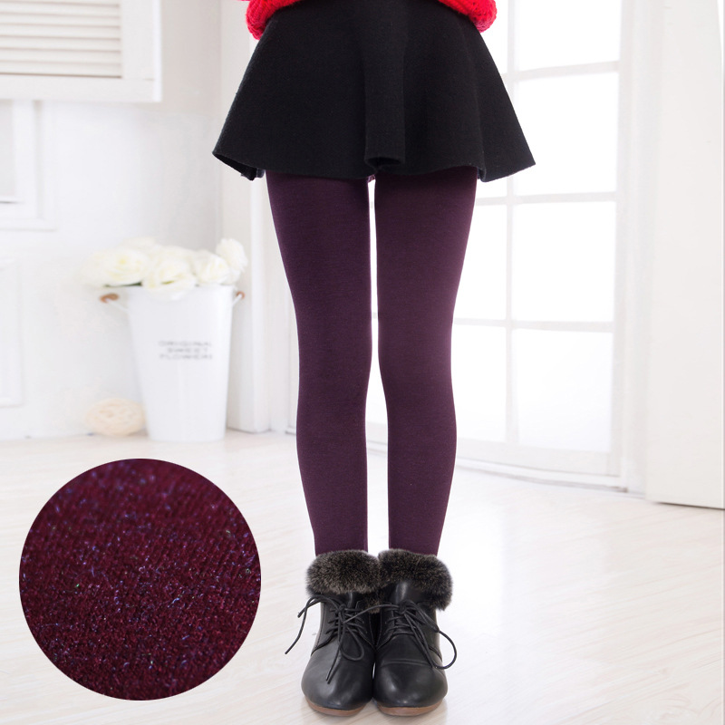 COOTELILI Warm Winter Leggings For Girls Thick Warm Elastic Waist Cotton Leggings Girl Pants Trousers Children Pants 3-15years  (10)