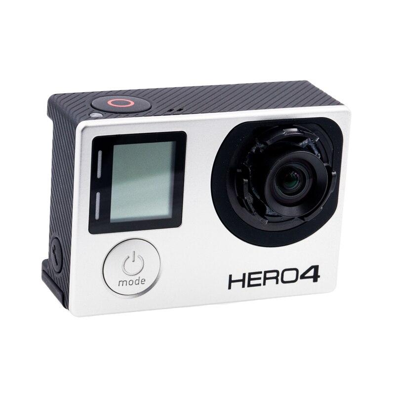 GoPro Hero4 Noir Sport Caméra Nu Machine avec Personnalisé 4.35mm 10MP 72 Degré Non Distorsion Objectif Modifié Lentille Nouvellement à venir