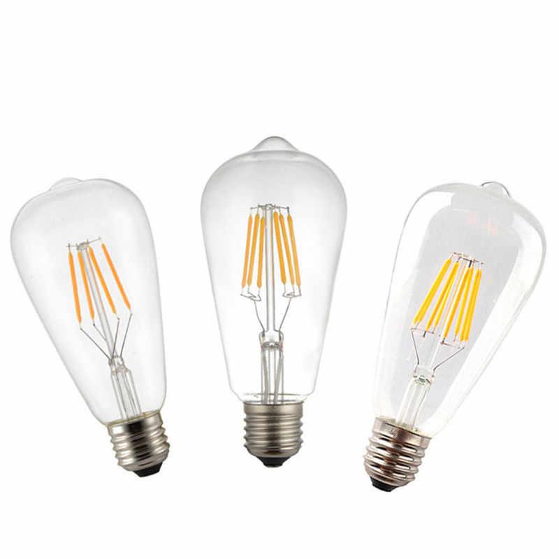 2 w 4 w 6 w 8 w A60 ST64 G45 C35 B10 T45 E27 E14 прозрачный светодиодный Лампа накаливания матовая Светодиодная лампа Теплый 220 В переменного тока с регулируемой яркостью Ретро Свет