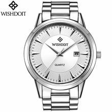 WISHDOIT Men Watch Top Brand Pilot Military Quartz Sports Watch Luxury Waterproof 24 Hour Date Week Clock Relogio Masculino недорого