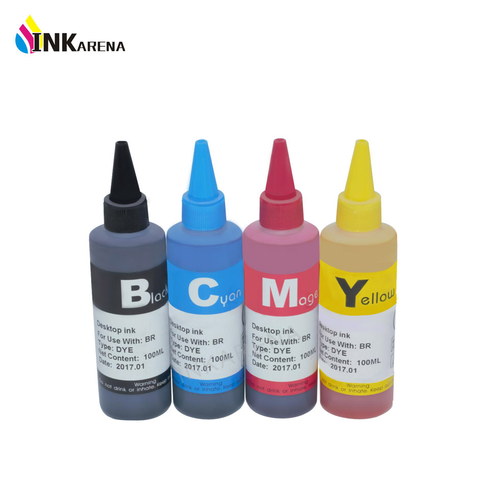 INKARENA 4 Color Dye Ink For <font><b>Canon</b></font> <font><b>470</b></font> <font><b>471</b></font> PGI-470PGBK CLI-<font><b>471</b></font> Refillable ink For <font><b>Canon</b></font> MG6840 MG5740 TS5040 TS6040 Printer Ink image