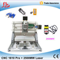 DIY Optional 500MW 2500MW 5500MW Laser CNC Engraving Machine Mini CNC 1610 Router PCB Milling Machine