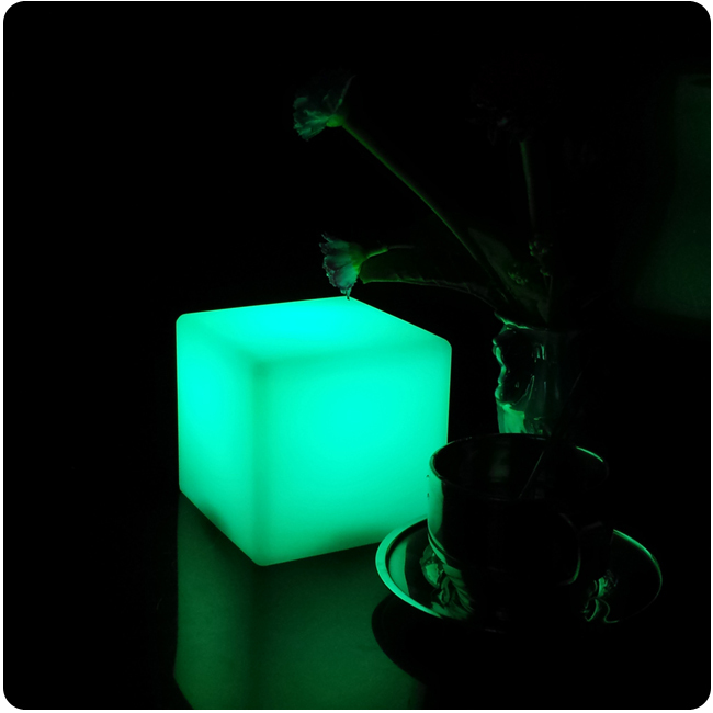 7 Color Changing D10cm ABS decorative Cordless cube design led restaurant table lamps Free shipping 1pc