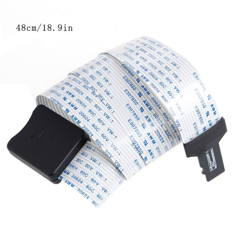 Aneng 48/60 см Пластик TF штекерным SD женский гибкий удлинитель Кабель-адаптер для телефона GPS ТВ легко для установки
