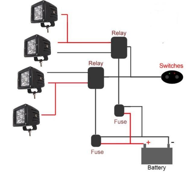 1pc Dual Relay Fuse Car Truck Van Crane Autos Motorcycle