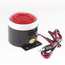 Проводной крытый мини-проводная сирена для Беспроводной сигнализации дома Система безопасности, мини-звук сирены для дома безопасности 120dB