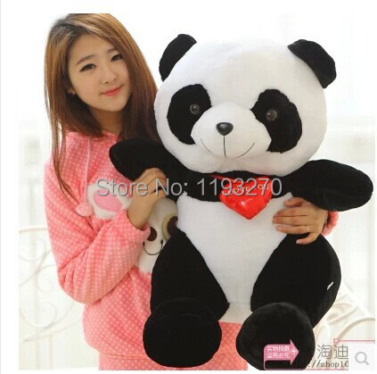 huge 75cm lovely panda plush toy i love you panda doll throw pillow birthday gift, Christmas gift w6806 cartoon glasses panda in yellow cloth large 70cm plush toy panda doll soft pillow christmas birthday gift x031