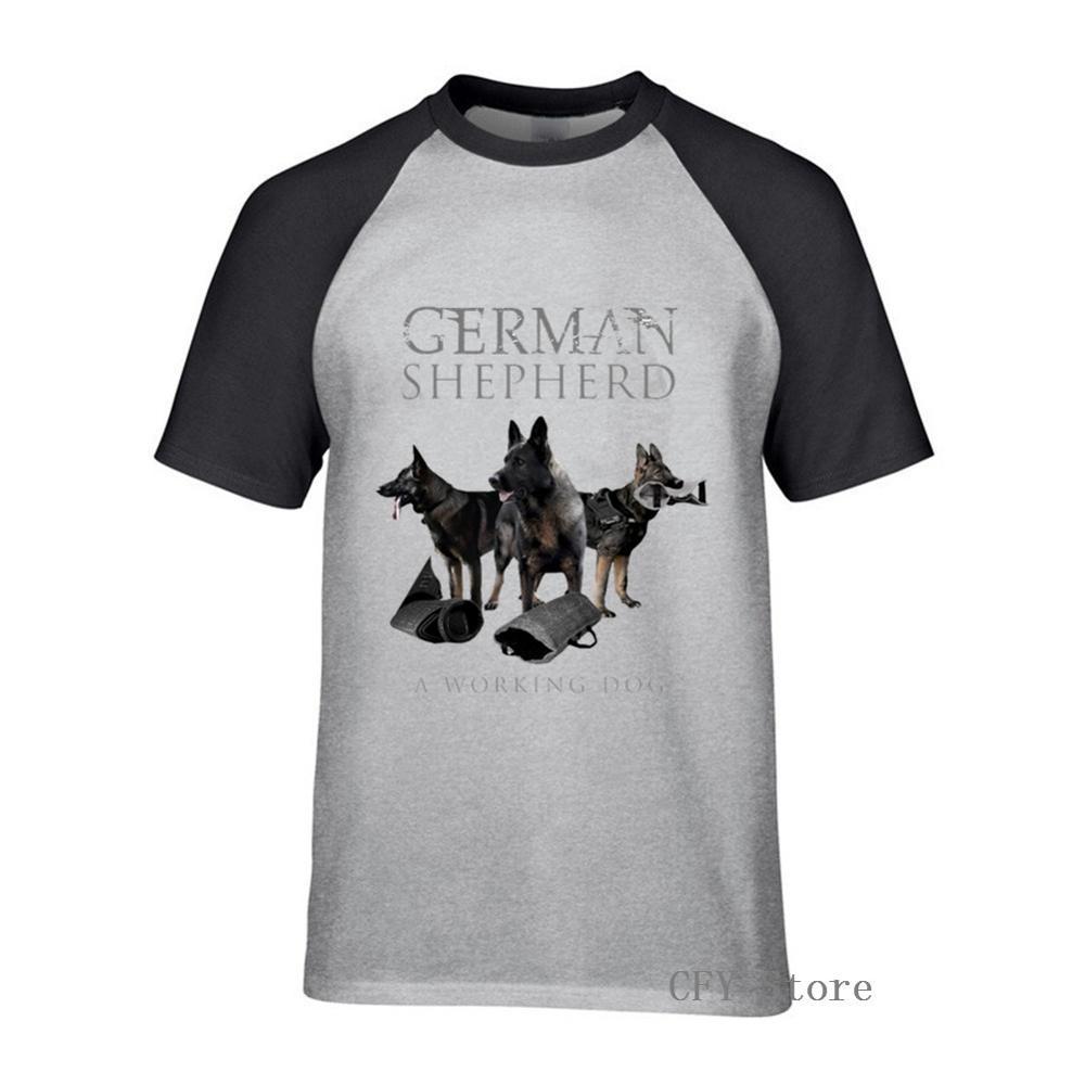 Немецкая овчарка Собака-GSD Футболка с принтом мужская летняя футболка с круглым вырезом черная Повседневная дышащая мужская футболка с кор...